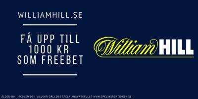 Williamhill välkomstbonus
