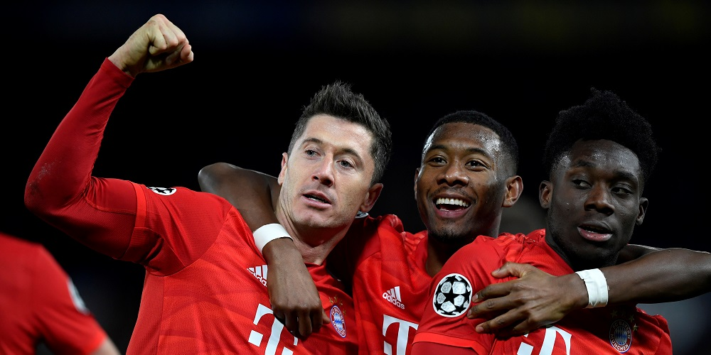 Robert Lewandowski, David Alaba, Alphonso Davis