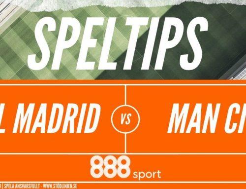 Speltips 26/2 Real Madrid – Manchester City